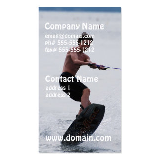 Wakeboarder fresco tarjeta de negocio