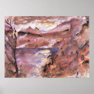 Walchensee de Lovis Corinto Póster