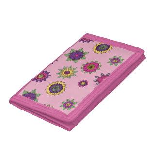 Waller floral triple rosado de la mandala