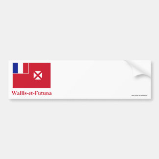 Wallis y bandera de Futuna con nombre en francés Pegatina Para Coche