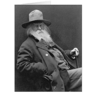 Walt Whitman 1887 Tarjeta De Felicitación Grande