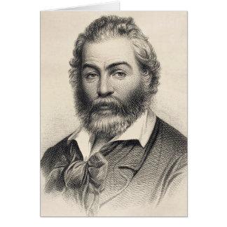 """Walt Whitman """"felicidad en este lugar, esta hora """" Tarjeta Pequeña"""