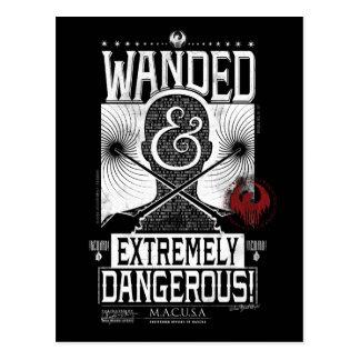 Wanded y poster querido extremadamente peligroso - postal