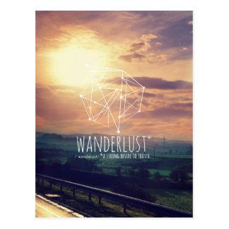 Wanderlust (colinas): Postal (vertical)