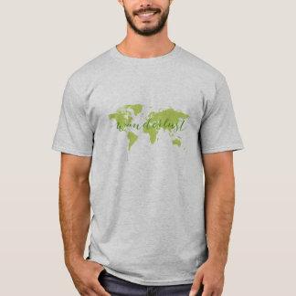 Wanderlust, mapa del mundo camiseta