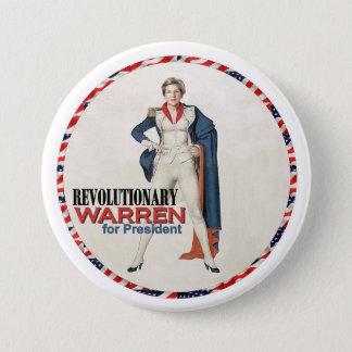 Warren revolucionario chapa redonda de 7 cm