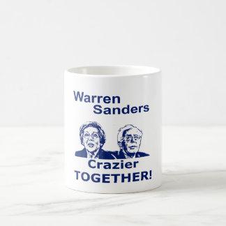 Warren y chorreadoras más locos junto taza de café