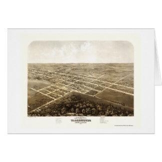 Warrensburg, mapa panorámico del MES - 1869 Tarjeta De Felicitación