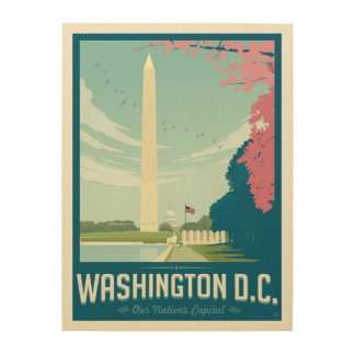 Washington, C.C. - la capital de nuestra nación Cuadro De Madera