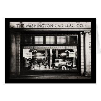 Washington Cadillac Co. 1927 Tarjeta De Felicitación