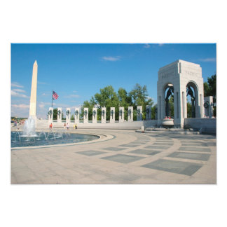 Washington DC monumento nacional de WWII Fotografias