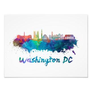 Washington DC V2 skyline in watercolor Foto