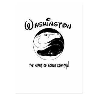 Washington, el corazón del país del caballo postal