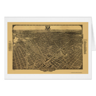 Washington mapa panorámico de DC - 1922 Tarjetas