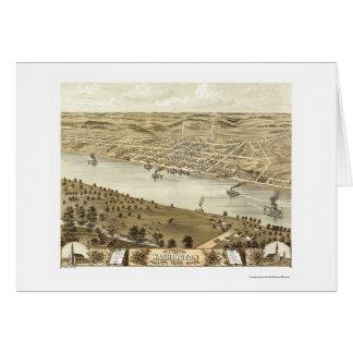 Washington, mapa panorámico del MES - 1869 Tarjeta De Felicitación