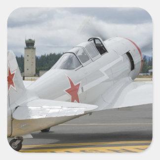 Washington, Olympia, airshow militar. 6 Pegatina Cuadrada