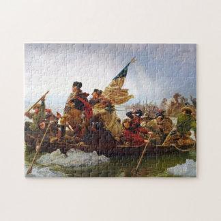 Washington que cruza el rompecabezas de Delaware