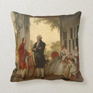 Washington y Lafayette en la almohada del Monte