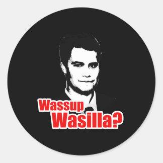 Wassup Wasilla Pegatinas Redondas
