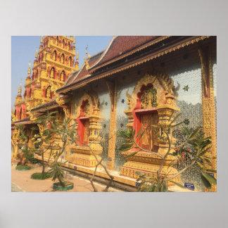 Wat del espejo en Tailandia Póster