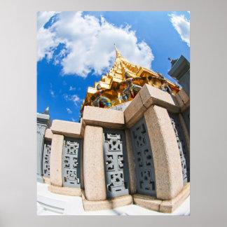Wat gigante tailandés Phra Kaew Bangkok Póster