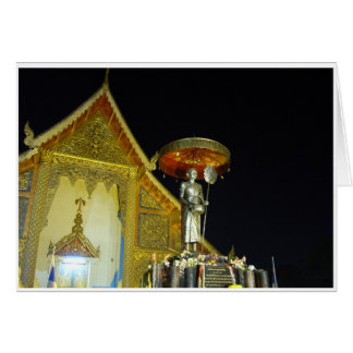 Wat Phra Singh en la noche Tarjeta De Felicitación