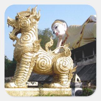 Wat Phrathatsutonmongkonkiree Pegatinas Cuadradases Personalizadas