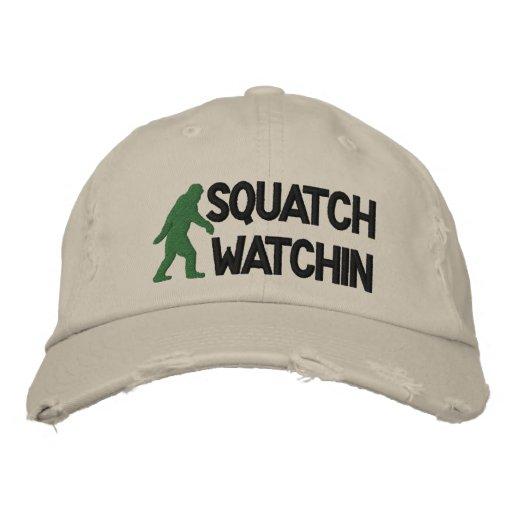 Watchin de Squatch Gorras Bordadas