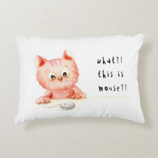 Watercolour: almohada del gatito del choque
