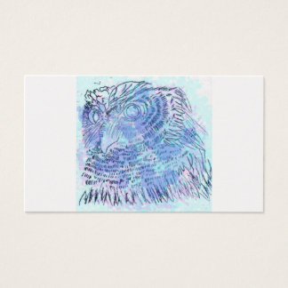 Watercolour azul del búho tarjeta de negocios