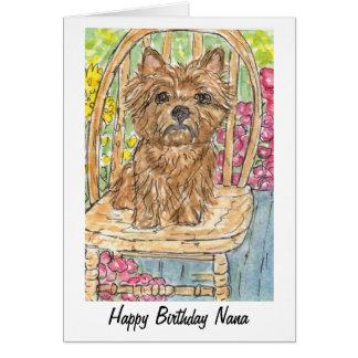 Watercolour de la tarjeta de Nana del feliz cumple
