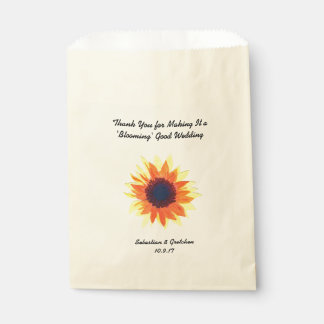 Watercolour del favor del boda del girasol (favor) bolsa de papel