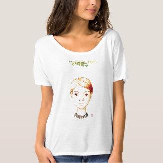 Watercolour: señora fresca camiseta de la estancia