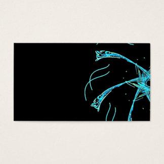 waterdragons azules tarjeta de visita