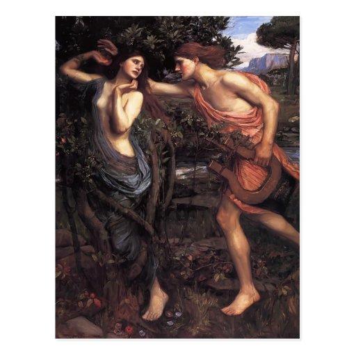 Waterhouse Apolo y Daphne de Juan Guillermo Tarjetas Postales