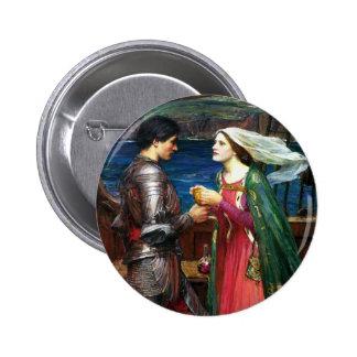 Waterhouse Tristan y botón de Isolda Pin