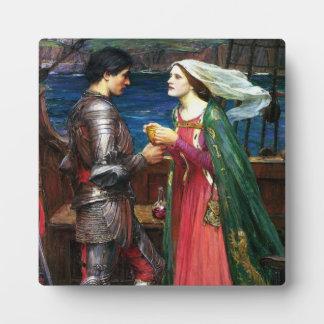 Waterhouse Tristan y placa de Isolda