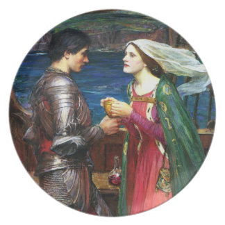 Waterhouse Tristan y placa de Isolda Plato