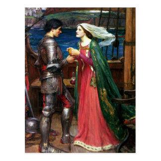 Waterhouse Tristan y postal de Isolda