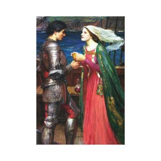 Waterhouse Tristan y poster de la lona de Isolda Impresion En Lona