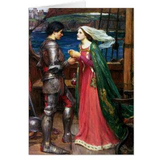Waterhouse Tristan y tarjeta de nota de Isolda