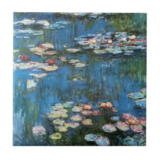 Waterlilies de Claude Monet impresionismo del vin Azulejo Ceramica