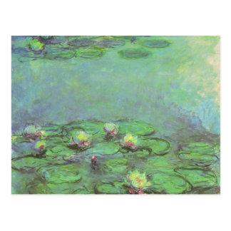 Waterlilies de Monet, impresionismo floral del Tarjetas Postales