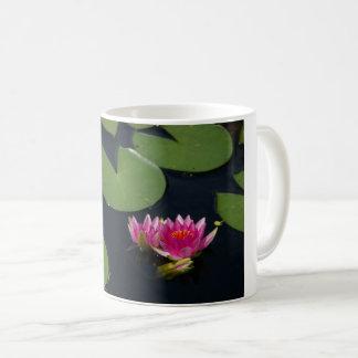 Waterlilies rosado taza de café