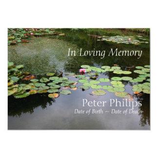 Waterlily - jardín pacífico - celebración de la invitación 12,7 x 17,8 cm