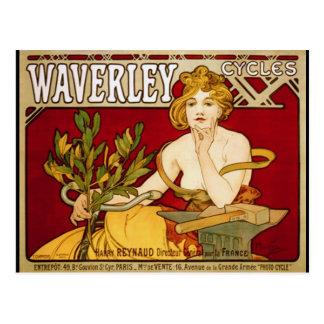 Waverley completa un ciclo - arte Nouveau - a Alfo Tarjetas Postales