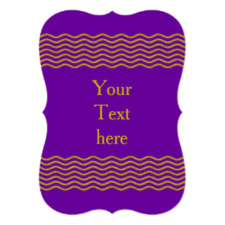 Waves Gold bonito + su backgr., texto y ideas Invitación 12,7 X 17,8 Cm