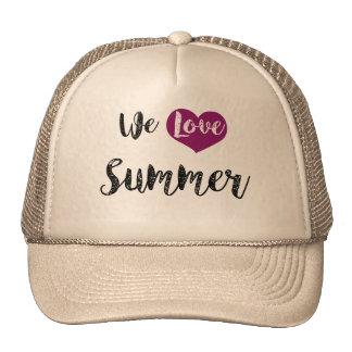 """We love Summer"" Gorros Bordados"