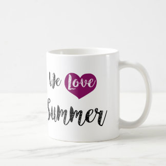 """We love Summer"" Taza De Café"