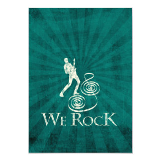 We Rock Invitación 12,7 X 17,8 Cm